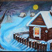 Картины и панно handmade. Livemaster - original item Oil painting Village. Handmade.