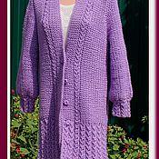 Одежда ручной работы. Ярмарка Мастеров - ручная работа Кардиган женский вязаный, пальто вязаное женское. Handmade.