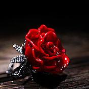 """Украшения ручной работы. Ярмарка Мастеров - ручная работа Кольцо """"Красная роза"""". Handmade."""