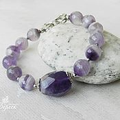 Украшения handmade. Livemaster - original item Lavender Amethyst Jewelry Set. Handmade.