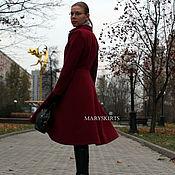 Одежда ручной работы. Ярмарка Мастеров - ручная работа Пальто классическое бордо. Handmade.