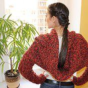 """Одежда ручной работы. Ярмарка Мастеров - ручная работа Вязаный комплект  """"Гранат"""" (пончо-снуд и рукава). Handmade."""