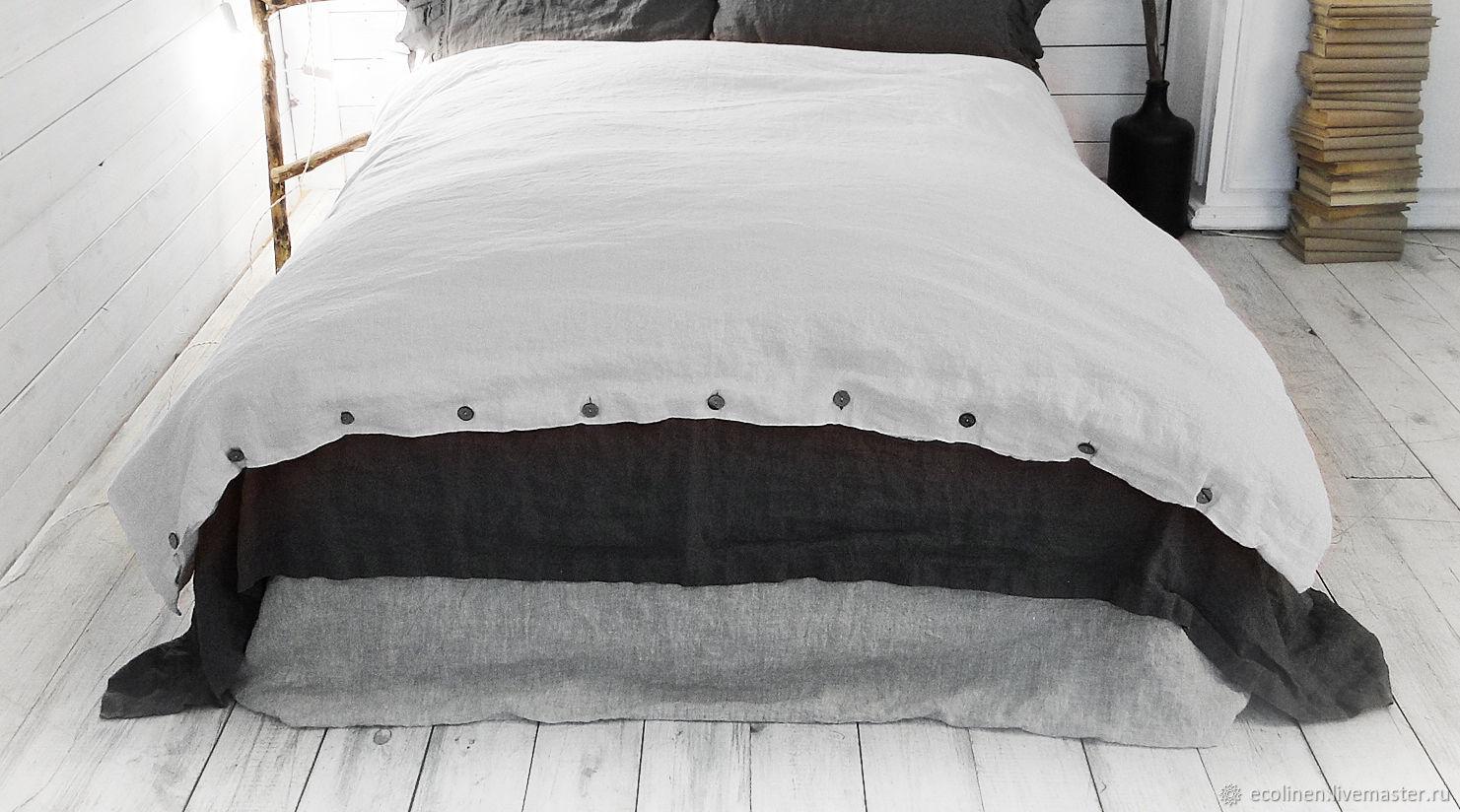 Duvet cover. 100% linen. Softened, Duvet covers, Minsk,  Фото №1