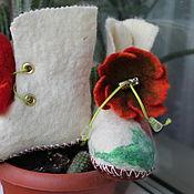 Обувь ручной работы. Ярмарка Мастеров - ручная работа Пинетки валяные-Аленький цветочек 3. Handmade.