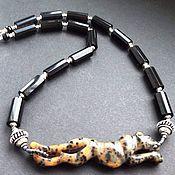 Украшения ручной работы. Ярмарка Мастеров - ручная работа Колье-чокер Leopard 5 , опал,оникс в серебре. Handmade.
