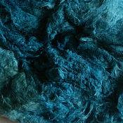 """Материалы для творчества ручной работы. Ярмарка Мастеров - ручная работа шелковая вата """"Бискайский залив"""" для валяния. Handmade."""