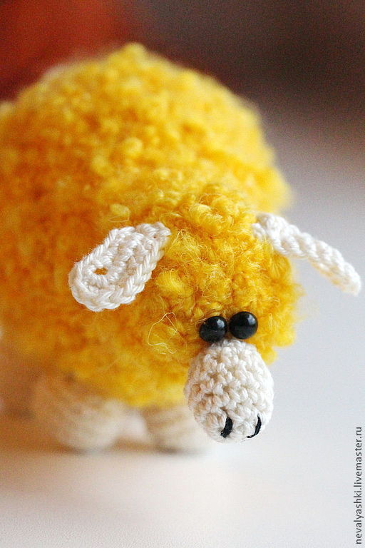 Игрушки животные, ручной работы. Ярмарка Мастеров - ручная работа. Купить Овечка. Handmade. Желтый, игрушка крючком, синтепух