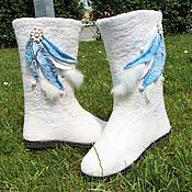 """Обувь ручной работы. Ярмарка Мастеров - ручная работа Валяные сапоги """"Белый вальс"""". Handmade."""