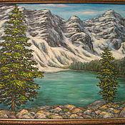 Картины и панно ручной работы. Ярмарка Мастеров - ручная работа Озеро в горах. Handmade.