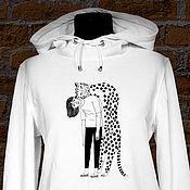 """Одежда ручной работы. Ярмарка Мастеров - ручная работа Толстовка с капюшоном """"Бремя чувств"""". Handmade."""