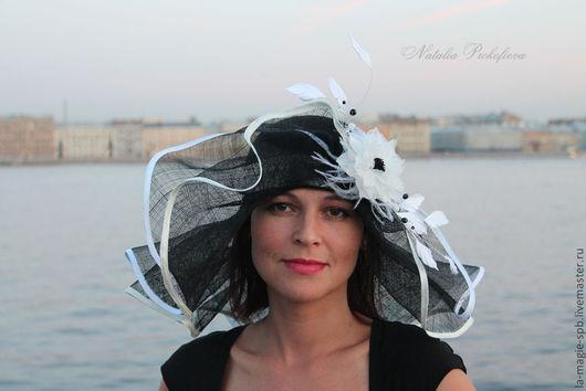 """Шляпы ручной работы. Ярмарка Мастеров - ручная работа. Купить Эксклюзивная летняя шляпа из серии """"Les nuits blanches"""" (Белые ночи). Handmade."""