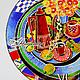 "Часы для дома ручной работы. Заказать Часы ""Завтрак на даче"". Мария Даянова     (MD-design). Ярмарка Мастеров. чай"
