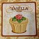 Салфетка для декупажа: Вишневые и ванильные маффины-173 Салфетка двухслойная Декупажная радость