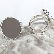 Материалы для творчества handmade. Livemaster - original item 1347_Круглая base for rings, Adjustable size, 20 mm. Handmade.