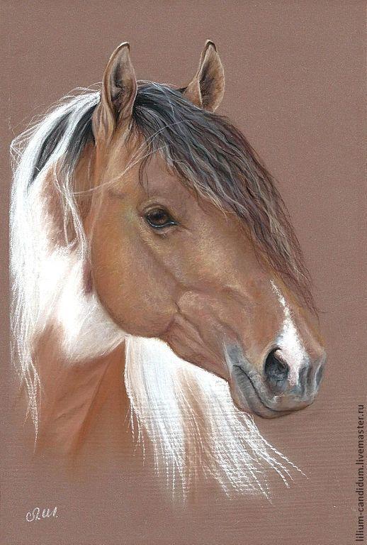 Портрет лошади пастелью