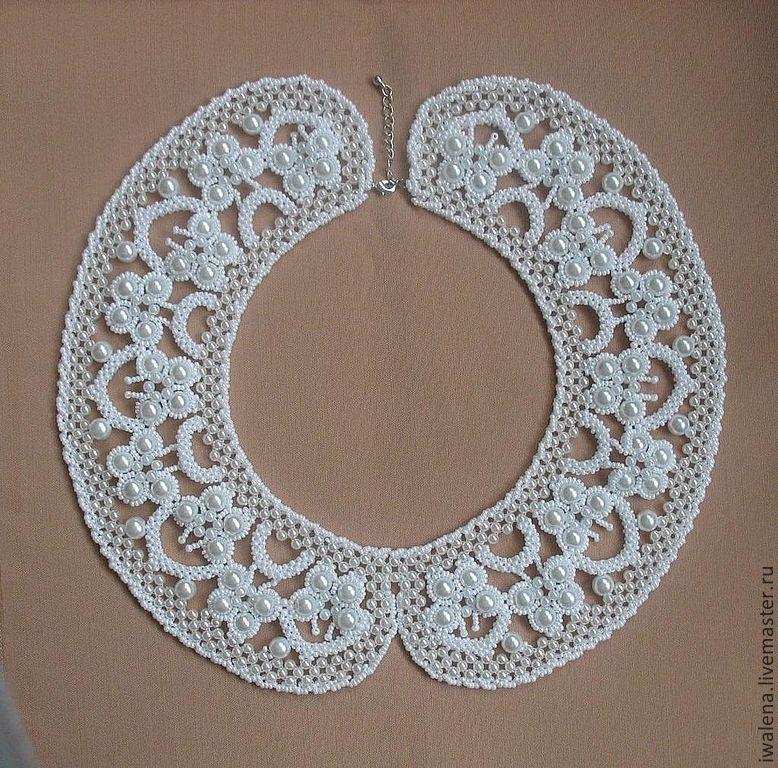 Collars handmade. Livemaster - handmade. Buy Collar with butterflies with pearl trim.Handmade, designer jewelry