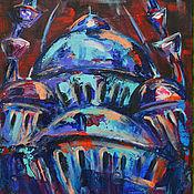 """Картины и панно ручной работы. Ярмарка Мастеров - ручная работа Картина маслом и акрилом """"Стамбул"""". Handmade."""