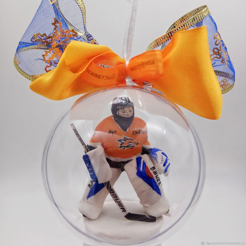 фигурка вратаря хоккеиста, подарок хоккеисту, Портретная кукла, Москва,  Фото №1