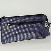Сумки и аксессуары handmade. Livemaster - original item Leather bag in blue