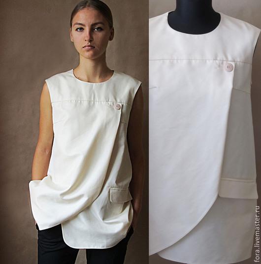 Блузки ручной работы. Ярмарка Мастеров - ручная работа. Купить Блуза, итальянский хлопок. Handmade. Хлопок, блузки, летняя блузка
