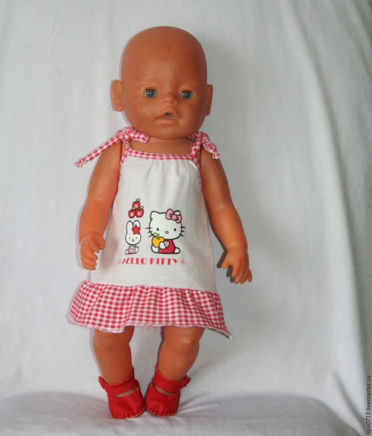 Одежда для кукол ручной работы. Ярмарка Мастеров - ручная работа. Купить Сарафан Hello Kitty (в ассортименте). Handmade. Комбинированный