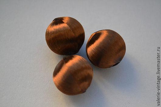 """Для украшений ручной работы. Ярмарка Мастеров - ручная работа. Купить Бусины из шелковых нитей Франция цвет """"шоколад"""". Handmade."""