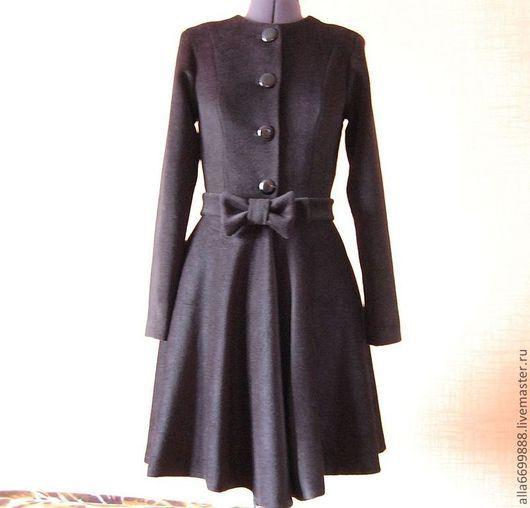 Верхняя одежда ручной работы. Ярмарка Мастеров - ручная работа. Купить Пальто-платье. Handmade. Плащ, стильный плащ, шерсть