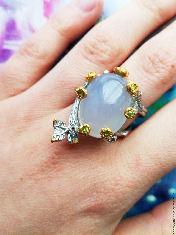 Ring Moon with chalcedony, Rings, Novaya Usman,  Фото №1