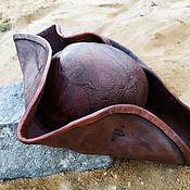 Аксессуары handmade. Livemaster - original item hats: Cocked hat based on the Pirates of the Caribbean. Handmade.