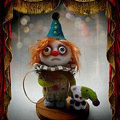 Куклы и игрушки ручной работы. Ярмарка Мастеров - ручная работа Клоун и кот.  Кабаре Потерянных Ночей. Авторская кукла.. Handmade.