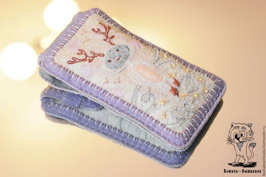 """Для телефонов ручной работы. Ярмарка Мастеров - ручная работа. Купить """"Аленёк"""" (Олень) и """"Кикиморка"""" - Чехол для телефона, айфона, планшета. Handmade."""
