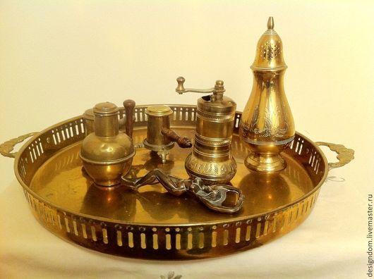 Винтажная посуда. Ярмарка Мастеров - ручная работа. Купить Латунные медные предметы для кухни. Handmade. Латунь патинированная, бутон цветка