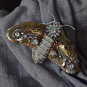Украшения ручной работы. Ярмарка Мастеров - ручная работа брошь Noctuidae. Handmade.