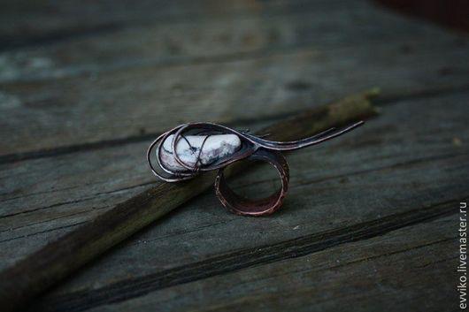 Кольца ручной работы. Ярмарка Мастеров - ручная работа. Купить Кольцо Перо Жар-Птицы. Handmade. Бледно-розовый