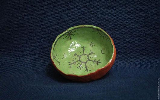 """Пиалы ручной работы. Ярмарка Мастеров - ручная работа. Купить миска """"стихии"""". Handmade. Зеленый, глина"""