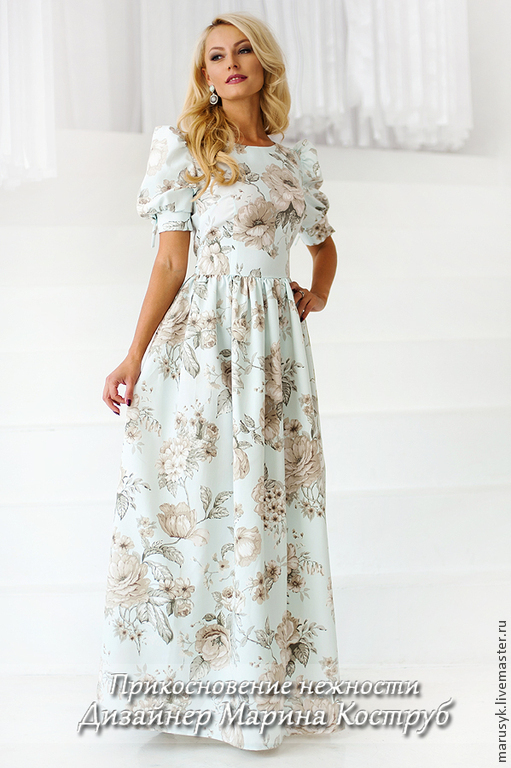 Платья ручной работы. Ярмарка Мастеров - ручная работа. Купить Платье ПН-23. Handmade. Голубой, платье для выпускного