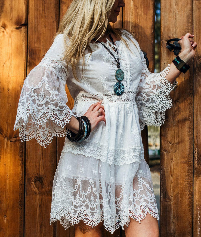 Вышивка батист платье