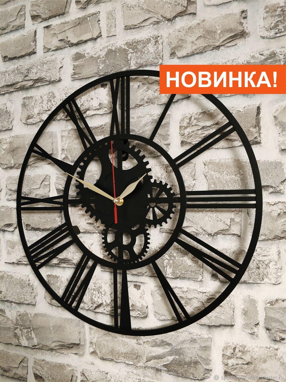 Настенные часы в стиле Лофт #2, Часы классические, Санкт-Петербург,  Фото №1