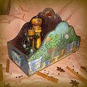 """Для дома и интерьера ручной работы. Ярмарка Мастеров - ручная работа Короб для специй """"Травы Прованса"""". Handmade."""
