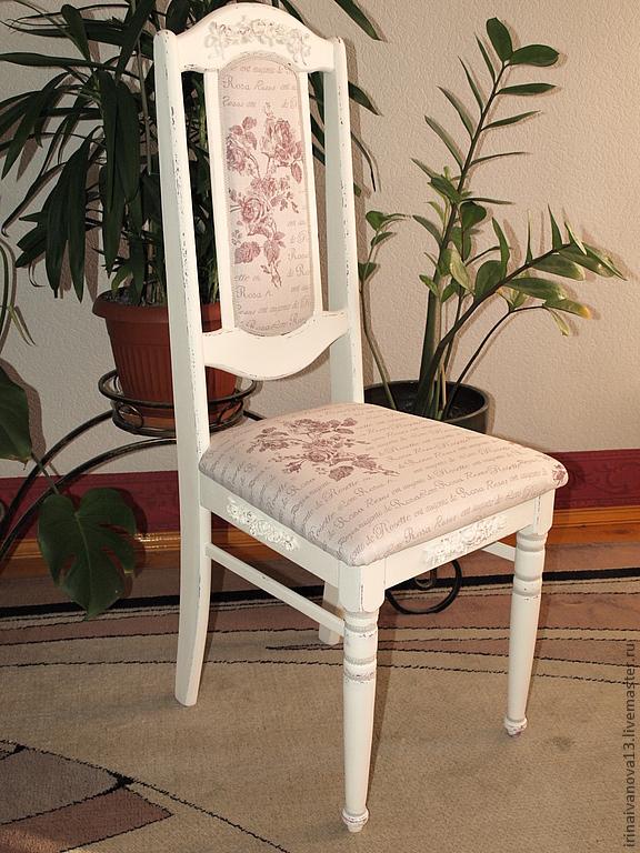Как задекорировать старый стул в стиле декупаж