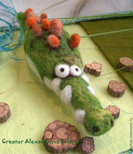 Игрушки животные, ручной работы. Ярмарка Мастеров - ручная работа. Купить Крокодил. Handmade. Зеленый, смешной, ручная авторская работа