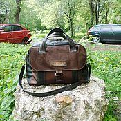 Сумки и аксессуары handmade. Livemaster - original item Bag leather men`s a La WENGER custom for Alexei.. Handmade.