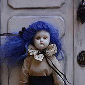 Куклы и игрушки ручной работы. Ярмарка Мастеров - ручная работа Девочка с голубыми волосами. Handmade.