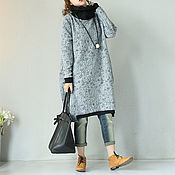 Одежда handmade. Livemaster - original item Grey dresses with long sleeves. Handmade.