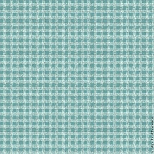 """Шитье ручной работы. Ярмарка Мастеров - ручная работа. Купить Ткань хлопок американский для пэчворка """"Клетка бирюзовая"""". Handmade. Комбинированный"""