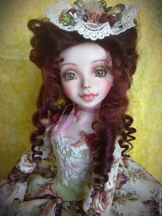 Коллекционные куклы ручной работы. Ярмарка Мастеров - ручная работа. Купить Амели. Handmade. Коричневый, хлопок 100%