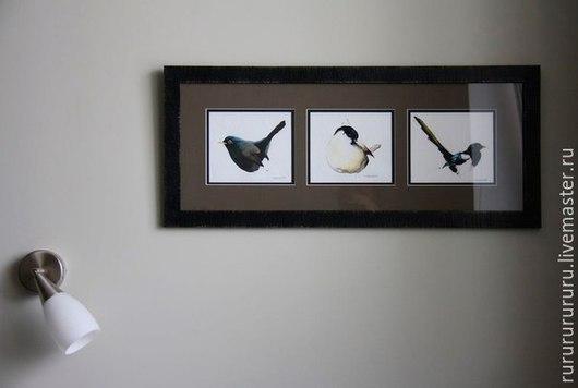 Животные ручной работы. Ярмарка Мастеров - ручная работа. Купить Птицы (акварель). Handmade. Коричневый, птица, 9 мая, кисти