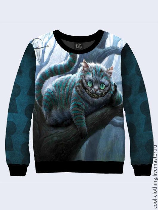 """Кофты и свитера ручной работы. Ярмарка Мастеров - ручная работа. Купить Свитшот """"Чеширский кот"""". Handmade. Рисунок, повседневная одежда"""