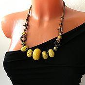 Украшения handmade. Livemaster - original item Necklace: large jewelry made of natural stones, bright boho necklace. Handmade.