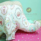 Мягкие игрушки ручной работы. Ярмарка Мастеров - ручная работа Текстильная игрушка слоник. Handmade.